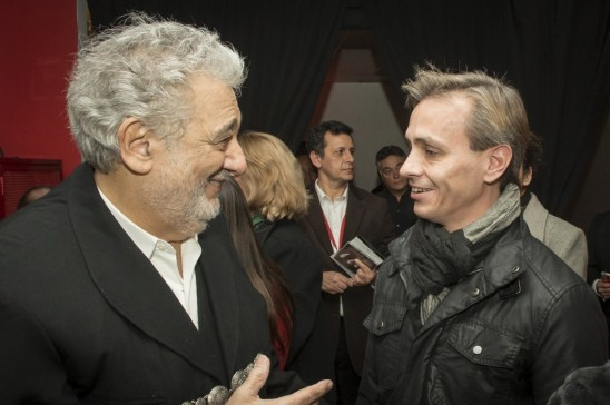 Plácido Domingo and Luis Ortigoza