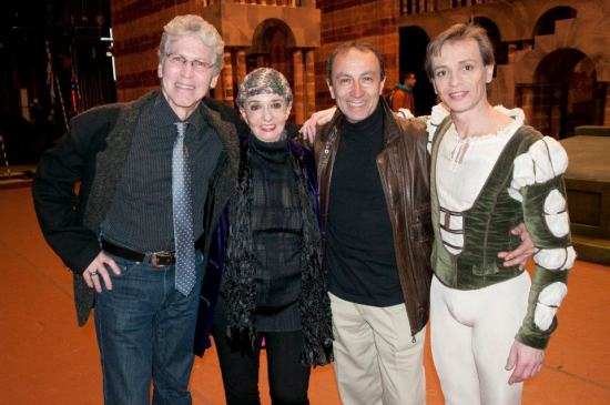 Richard Cragun, Marcia Haydée, Mario Galizzi and Luis Ortigoza, Romeo and Juliet Premiere Teatro Municipal de Santiago