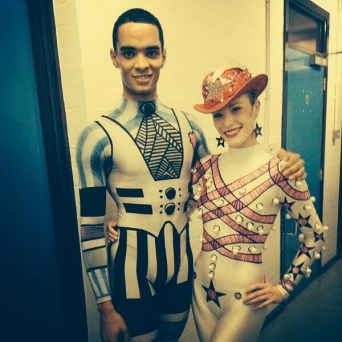Brandon Lawrence and Yvette Knight backstage