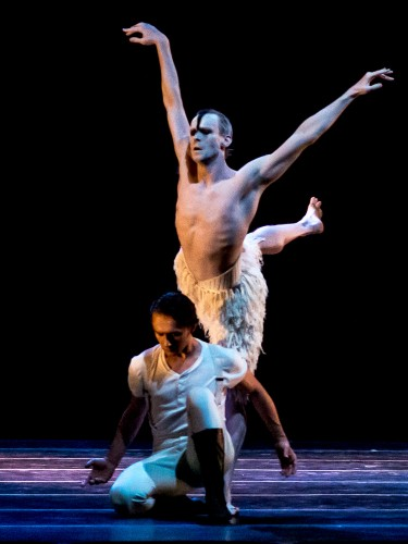 Edward Watson and Ivan Putrov in Matthew Bourne's Swan Lake