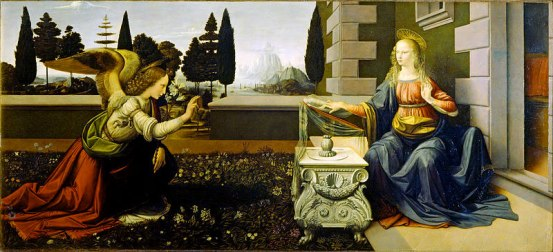 Annunciazione-Leonardo-da-Vinci---Annunciazione