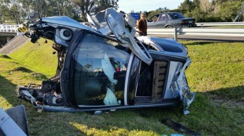 Julio Bocca's car after the accident