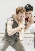 Edward Watson and Natalia Osipova in rehearsal for Tetractys - The Art of Fugue, The Royal Ballet ©ROH/Johan Persson, 2014