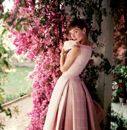 Audrey Hepburn photographed wearing Givenchy by Norman Parkinson, 1955