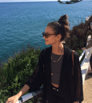 Francesca holidaying in Madeira