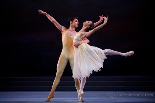 Francesca Hayward and James Hay in Rhapsody – photo by Alice Pennefather, ROH, 2014