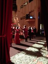 From the wings, Rigoletto, Japan 2013
