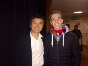 Julian Mackay with Mao's last dancer, Li Cunxin