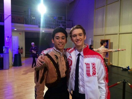 Julian Mackay with new friend Lorenz Syvert Garcia from Norway