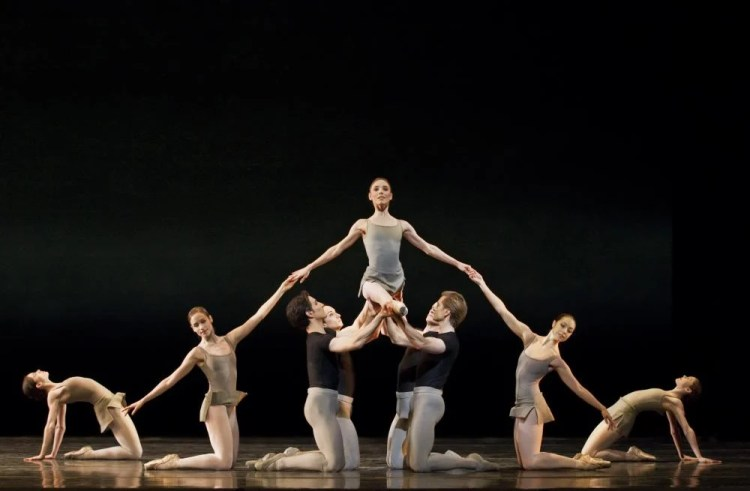 Sarah Lamb and Artists of The Royal Ballet in Song of The Earth - photo ROH, Johan Persson