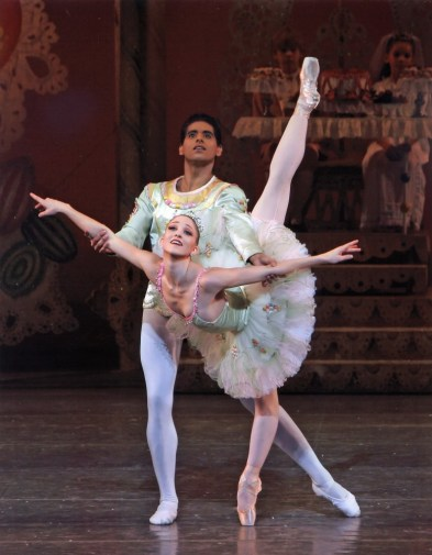 Ashley Bouder and Amar Ramasar in George Balanchine's The Nutcracker - photo by Paul Kolnik