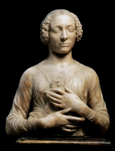 Andrea del Verrocchio - Lady with a Bunch of Flowers