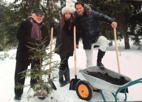 Planting trees with Costantine Orbelian and Ildar Abdrazakov