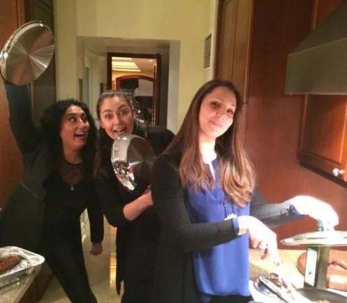 Something cooking - Barbara with fellow singers Anita Rachvelishvili and Oksana Dyka