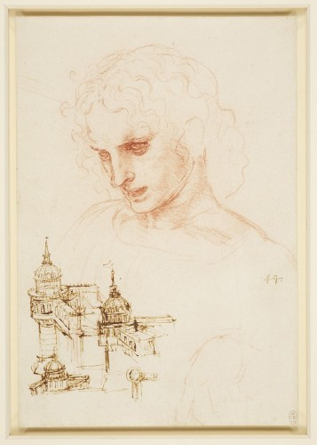 The head of St James in the Last Supper, and architectural sketches - Royal Collection Trust © Her Majesty Queen Elizabeth II 2015