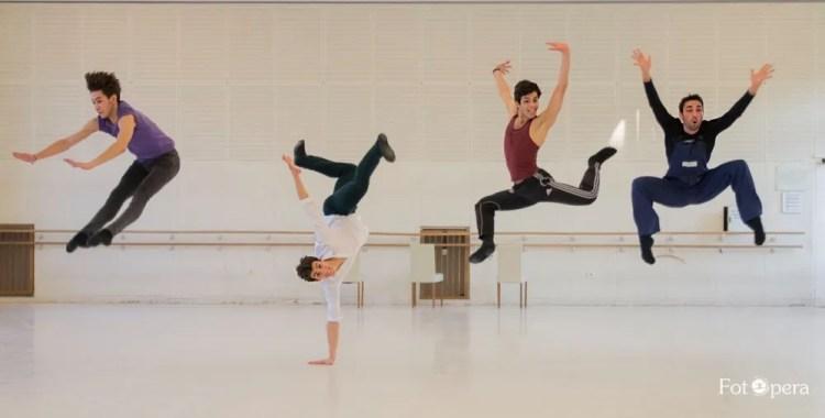 Alex Kaden, Francesco Costa, Cristiano Zaccaria and Alessio Di Stefano during rehearsals - photo by Mirko Di Stefano