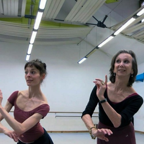 Coaching Anais Chalendard while staging Erik Bruhn's production of La Sylphide in Rome 2013
