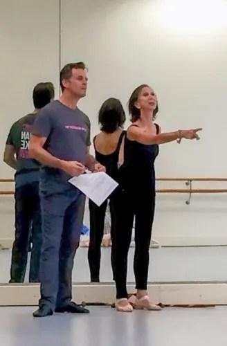 Coaching Giselle in Melbourne 2015 with Steven Heathcote, now ballet master The Australian Ballet