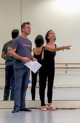 Coaching Giselle in Melbourne 2015 with Steven Heathcote, now ballet master The Australian Ballet