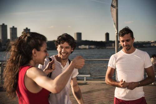 With friends - from left, Luciana Paris, Herman Cornejo, Carlos Lopez - by Lucas Chilczuk