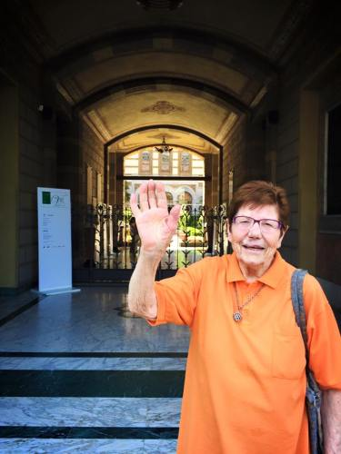 Luisa Mandelli at 93 - photo by Armando Ariostini