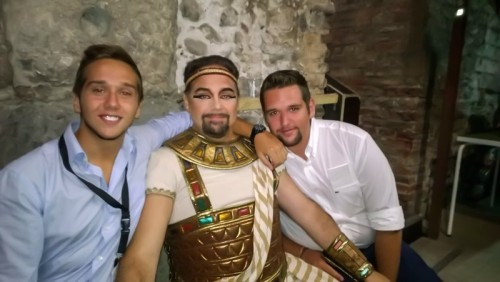 Marco Berti at the Verona Arena with sons Stefano and Andrea