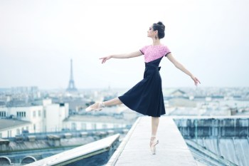 Mathilde Froustey photographed by Erik Tomasson in July 2014 on the rooftop of Paris Opera Garnier