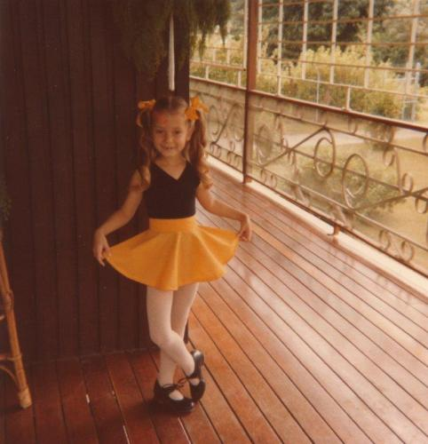 5-year-old Lisa-Maree dressed for her tap exam, Papua New Guinea