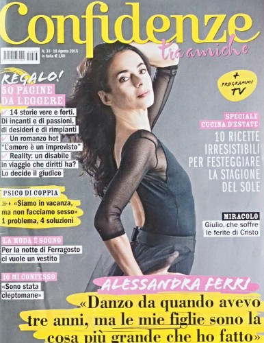 Alessandra Ferri on the cover of Confidenze