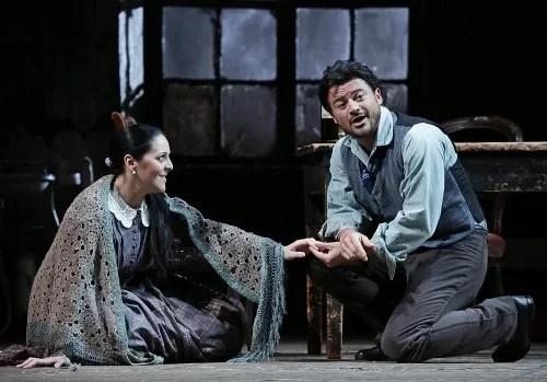 Maria Agresta with Vittorio Grigola in La bohème at Teatro alla Scala - photo Brescia-Armisano 2015