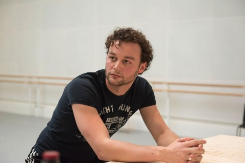 Liam Scarlett in rehearsal for The Age of Anxiety ©ROH. Bill Cooper 2014