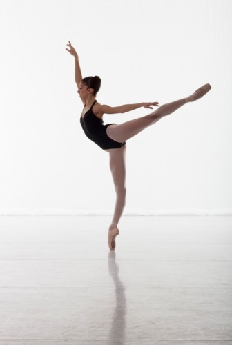 One of Yasmine Naghdi's audition photos in the last year of school - photo by Johan Persson, 2009