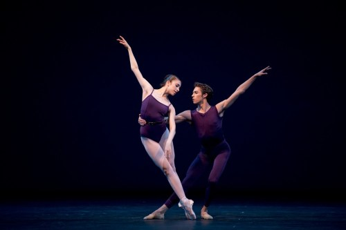 Yasmine Naghdi with James Hay in 'Polyphonia' - Photo by Bill Cooper-ROH