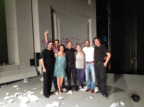 Massimo Cavalletti with the cast of La bohème in Salzburg, 2012