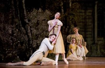 Matthew Ball as Lensky with Yasmine Naghdi as Olga in Onegin ©ROH, 2015. Photo Tristram Kenton