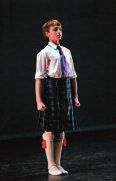 Matthew in The Royal Ballet School Linbury performances, Scottish Dancing, Year 9, 2008 aged 14