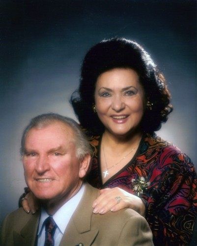 Virginia Zeani and Nicola Rossi-Lemeni in 1990
