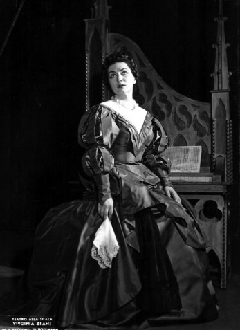 Virginia Zeani as Antonia in The Tales of Hoffmann, La Scala 1961
