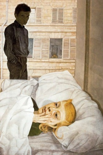 Lucian Freud, Hotel Bedroom (1954)