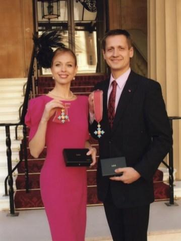 Agnes Oaks and Thomas Edur receive their CBEs in 2010