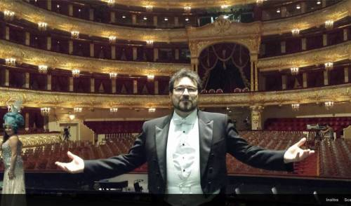 Carlo Colombara at the Bolshoi Theatre for the Elena.Obraztsova memorial concert, 10 November 2015