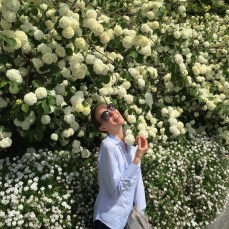 'I love flowers'