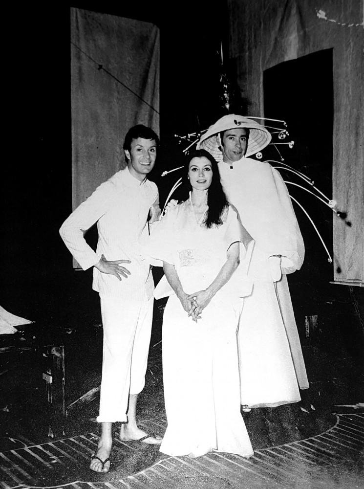 Paolo Poli, Carla Fracci and Umberto Bindi in Turandot