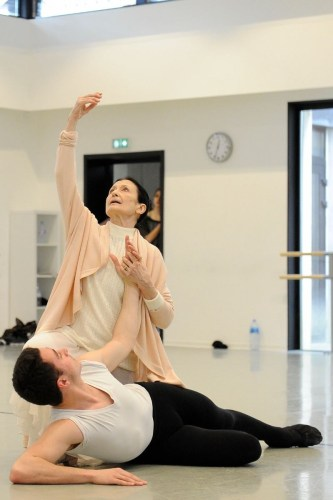 Carla Fracci coaching ESDCM Rosella Hightower students in Giselle - photos by Nathalie Sternalski 2016