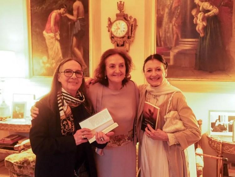 Amici della Scala, painter Dolores Puthod, Anna Crespi and Carla Fracci