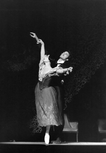 Paul Chalmer with Elisabetta Terabust in Onegin - London Festival Ballet