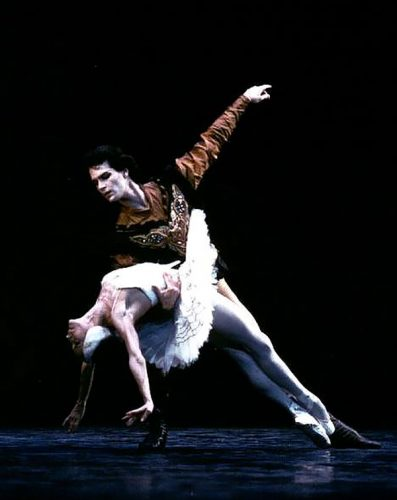 Paul Chalmer with Natalia Makarova in Swan Lake - English National Ballet 1
