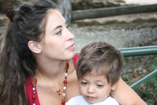 Rebecca with Emanuele, now 3½