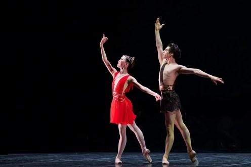 Rina Kanehara and Cesar Corralesi n the Diana & Acteon pas de deux - photo by Dasa Wharton