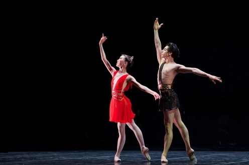 Rina Kanehara and Cesar Corralesi n the Diana & Acteon pas de deux - photo by Dasa Wharton